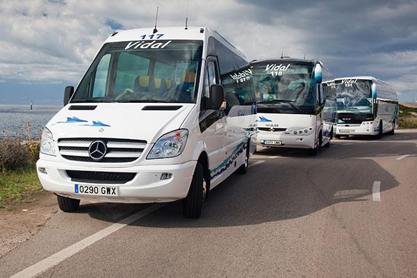 Autobuses y minibuses en menorca autocares vidal - Transportes menorca ...